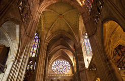 De kathedraal van Leon Stock Foto's