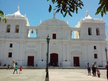 De Kathedraal van Leon Royalty-vrije Stock Foto