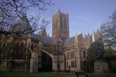 De Kathedraal van Lincoln, het UK Stock Fotografie