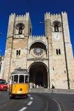 De Kathedraal van Lissabon Stock Afbeelding