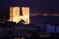De Kathedraal van Lissabon stock foto