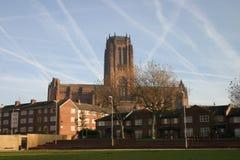 De Kathedraal van Liverpool Stock Afbeeldingen