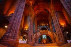 De Kathedraal van Liverpool of de Kathedraalkerk van Toegenomen Christus, Liverpool in het UK stock foto's
