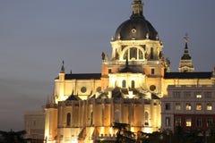 De Kathedraal van Madrid Stock Afbeelding
