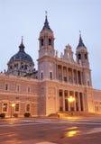 De kathedraal van Madrid - Almudena- stock foto