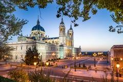 De Kathedraal van Madrid, Spanje Stock Afbeeldingen