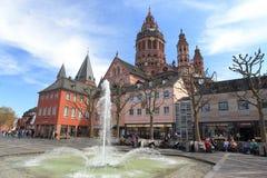 De Kathedraal van Mainz Stock Afbeelding