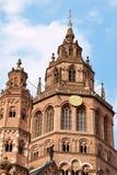 De Kathedraal van Mainz - Dom Mainzer Stock Afbeelding