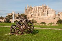 De Kathedraal van Majorca in Spanje Stock Afbeeldingen