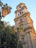 De Kathedraal van Malaga Stock Afbeeldingen