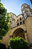 De kathedraal van Malaga Stock Foto's
