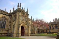 De Kathedraal van Manchester stock afbeelding