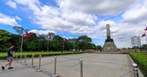 De Kathedraal van Manilla in het Intramuros district van Manilla wordt gevestigd dat stock videobeelden