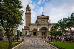 De Kathedraal van Manilla, in Intramuros, Manilla, de Filippijnen Stock Foto