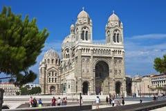 De Kathedraal van Marseille, Frankrijk Stock Foto's