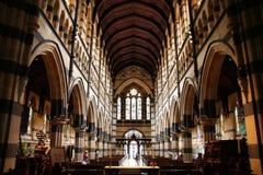 De Kathedraal van Melbourne Stock Foto