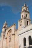De kathedraal van Merida, Yucatan (Mexico) Stock Fotografie