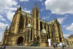 De Kathedraal van Metz, Lotharingen, Frankrijk Royalty-vrije Stock Foto's
