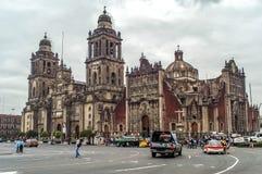 De Kathedraal van Mexico-City stock afbeeldingen