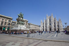 De Kathedraal van Milaan Stock Fotografie