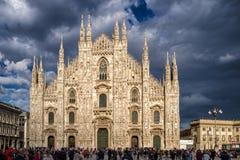De Kathedraal van Milaan, Italië Stock Foto