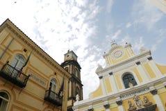 De kathedraal van Minori en stadhuis Stock Afbeelding