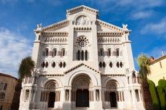 De Kathedraal van Monaco stock afbeeldingen
