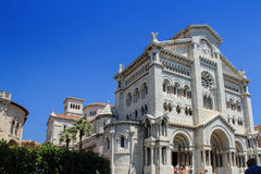 De Kathedraal van Monaco, Monaco-Ville, Monaco Stock Afbeelding