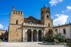 De Kathedraal van Monreale, dichtbij Palermo, Italië stock afbeelding