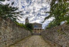 De Kathedraal van Montalcino stock afbeelding