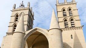 De kathedraal van Montpellier, Frankrijk stock videobeelden