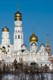 De kathedraal van Moskou het Kremlin Royalty-vrije Stock Afbeeldingen