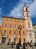 De Kathedraal van Nice is een Rooms-katholieke die kathedraal in de stad van Nice in zuidelijk Frankrijk wordt gevestigd royalty-vrije stock foto's