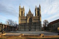 De kathedraal van Nidaros in Trondheim royalty-vrije stock afbeelding