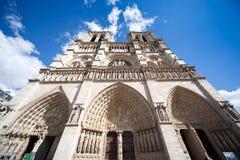 De Kathedraal van Notre-Dame stock fotografie