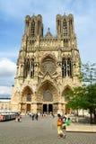 De Kathedraal van Notre-Dame DE Reims, Frankrijk. royalty-vrije stock foto's