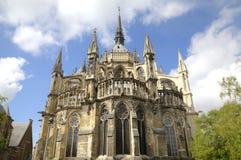 De kathedraal van Notre-Dame DE Reims Reims, Frankrijk Stock Afbeeldingen
