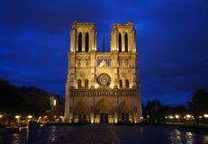 De kathedraal van Notre Dame in Parijs stock foto's