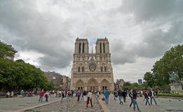 De Kathedraal van Notre Dame, Parijs Royalty-vrije Stock Foto