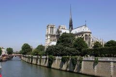 De Kathedraal van Notre Dame in Parijs Stock Foto