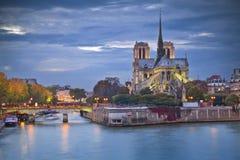 De Kathedraal van Notre Dame, Parijs Stock Afbeeldingen