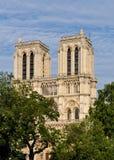 De Kathedraal van Notre-Dame in Parijs Stock Afbeeldingen