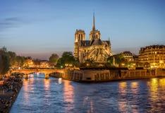 De Kathedraal van Notre-Dame in Parijs Royalty-vrije Stock Afbeelding