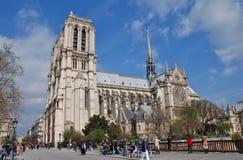 De Kathedraal van Notre Dame, Parijs Royalty-vrije Stock Afbeeldingen