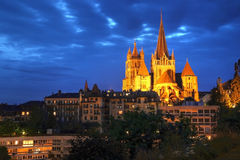 De Kathedraal van Notre-Dame van Lausanne, Zwitserland Royalty-vrije Stock Afbeelding