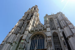De Kathedraal van Onze Dame in Antwerpen stock afbeelding