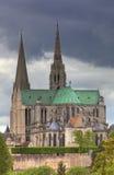 De kathedraal van Onze Dame van Chartres, Frankrijk Royalty-vrije Stock Foto's