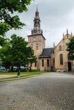 De Kathedraal van Oslo is de belangrijkste kerk voor de Kerk van Noorwegen Dioce Royalty-vrije Stock Afbeeldingen