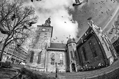 De Kathedraal van Oslo, Noorwegen Stock Foto's
