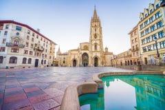 De Kathedraal van Oviedo Stock Afbeelding